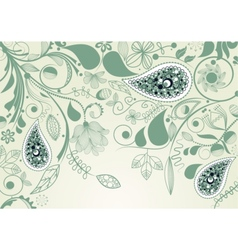 floral frame with paisley vector image