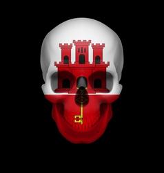 Gibraltar flag skull vector