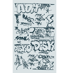 graffiti design elements vector image vector image