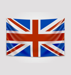 hanging flag of great britain united kingdom of vector image vector image