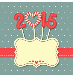 happy new year 2015 candy vector image