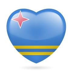 Heart icon of aruba vector