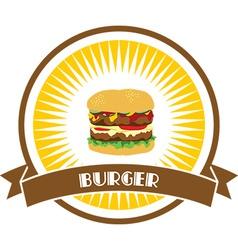 Junk food design elements vector