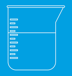 Kitchen measuring cup icon outline style vector