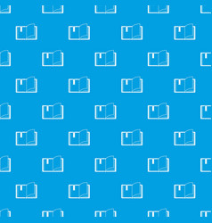 open book pattern seamless blue vector image