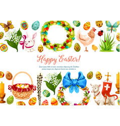 paschal geeting card for easter design vector image