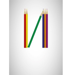 Pencil crayon poster - vector