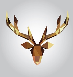 Polygonal of deer head vector