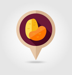 Potato flat pin map icon vegetable vector