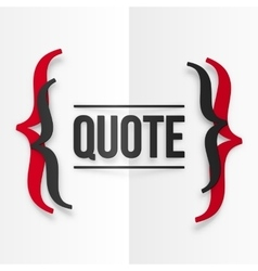 Red and black curly brackets with place for your vector