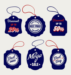 sale and discount price labels vector image vector image