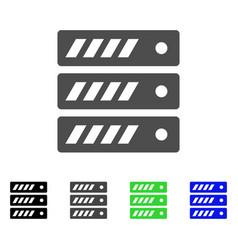 Server flat icon vector