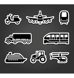 Set of sticky stickers transport symbols vector image vector image