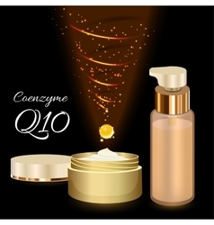 Skin Cream and Emulsion with Coenzyme Q10 vector image vector image