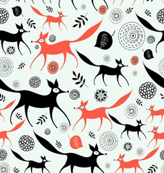 Texture of foxes vector