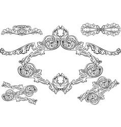 vintage barocco frames vector image vector image