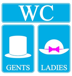 WC icons vector image vector image