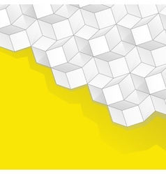 yellow background with volume cubes vector image