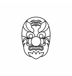 Hannya mask icon outline style vector