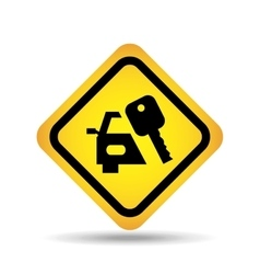 Traffic sign concept icon car key vector