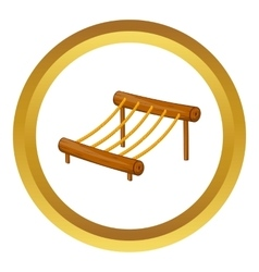 Children rope ladder icon vector