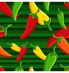 Chilli peppers pattern background vector