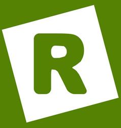 Letter r sign design template element vector