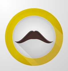 Icon for blog brown mustache vector