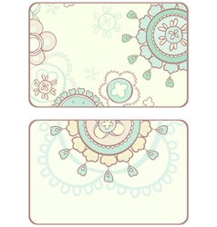 Card with abstract circular pattern vector