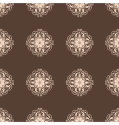 Seamless damask wallpaper vintage pattern vector