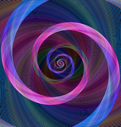 Pink blue abstract geometric spiral background vector