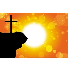 Easter silhouette of jesus cross background 1 vector