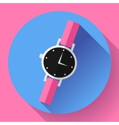 Wrist watches smart clock icon vector