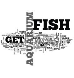 aquarium fish magazine text word cloud concept vector image vector image