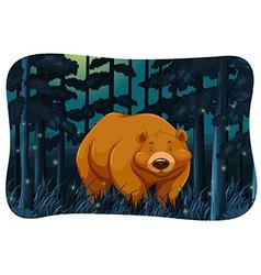 Bear and fireflies vector