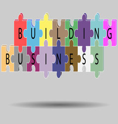 Business building concept vector image