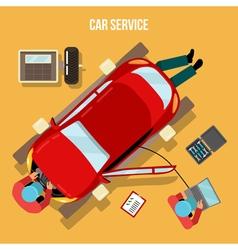 Car service car repairs and diagnostics auto vector