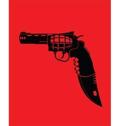 Cartoon knife gun vector image vector image