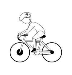 Cyclist athlete sport avatar icon image vector