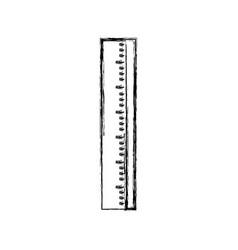 Figure ruler school tool to study education vector