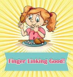 Finger linking good vector