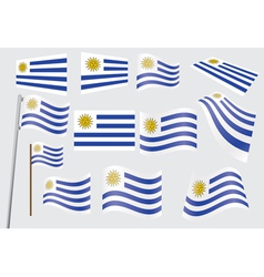 flag of Uruguay vector image vector image