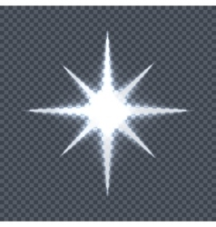 Glowing star on transparent background vector
