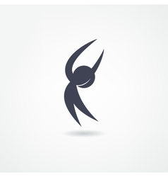 Gymnast icon vector