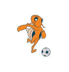 Hermit soccer crab vector