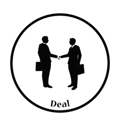 Icon of Meeting businessmen vector image