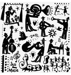 Jazz band cartoons vector
