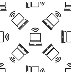 laptop and wireless icon wireless technology vector image vector image