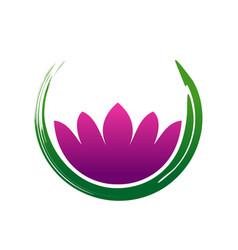Lotus zen abstract symbol vector