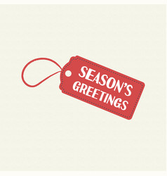 Merry christmas sale tag quote text vector